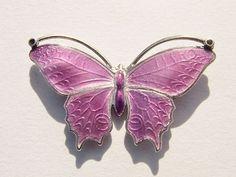 Beautiful Marius Hammer Art Deco Silver Enamel Butterfly Brooch | eBay
