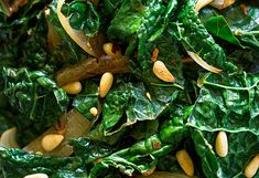 Kale with Onions & Pine Nuts by Michael Pollan, oprah.com: Sautéed kale is dressed up with onions, red pepper flakes and toasted pine nuts.  #Kale #Pine_Nuts #Healthy