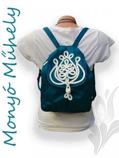 Zsinórozott női hátizsák Kék