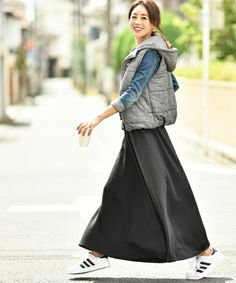 coca,毛布のような肌触り裏起毛フレアロングスカート可以搜尋使用這款服飾的流行搭配。