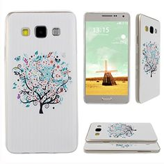 Asnlove para Samsung Galaxy A3 Carcasa Funda Gel TPU Silicona Transparente Ultrafino Flexible Tapa Trasera de Telefono-Arbol mariposas flores blanco Asnlove http://www.amazon.es/dp/B0146DX1A2/ref=cm_sw_r_pi_dp_Ja-Dwb007CY22