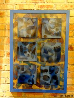 """Stand Out"" - $300,  ArtByStorm@gmail.com, #art, #painting, #gift, #home, #shapes, #blue"