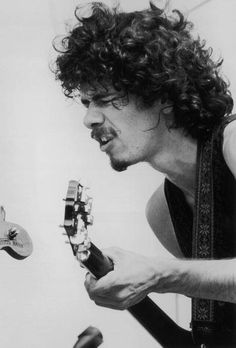 Carlos Santana was the third performer on the second day at Woodstock.  Saturday, August 16, 1969.