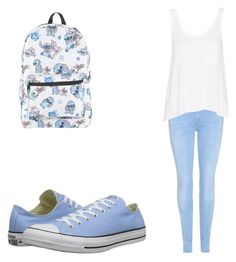 """""""Untitled #310"""" by fairytalestorybook ❤ liked on Polyvore featuring 7 For All Mankind, rag & bone, Disney and Converse"""
