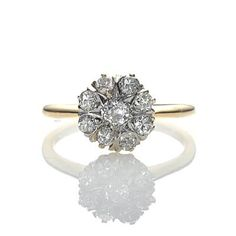 antique diamond cluster ring. #leighjaynacht
