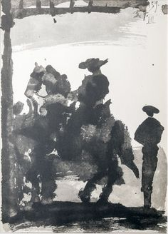 Pablo Picasso (1881-1973)- Toreros Lithograph - 1961 Mihály Collection Pablo Picasso (1881-1973)- Toreros Litográfia -1961 Mihály Gyűjtemény