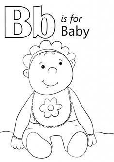 boy baby shower coloring pages | Baby BOY Coloring Page | baby Shower in 2019 | Baby coloring ...