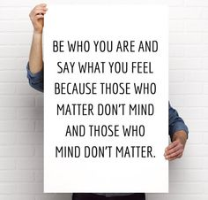 Poster Printable, Dr. Suess, Be Who You Are And Say What You Feel, Nursery/Children's Room Decor, 24x36, PDF, Instant Download by BrightAndBonny on Etsy