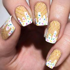 Give style to your nails using nail art designs. Used by fashion-forward stars, these nail designs can incorporate instant charm to your apparel. Cute Nail Art, Cute Nails, Food Nail Art, Ice Cream Nails, Nails For Kids, Diy Nail Designs, Nail Designs For Kids, Best Acrylic Nails, Nagel Gel