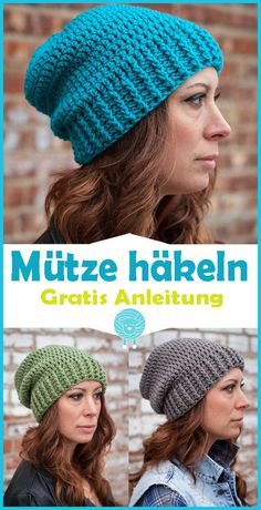 Damen Mütze häkeln – kostenlose & einfache Anleitung You just want to crochet a hat or looking for a guide for a crocheted cap? Crochet beginners and advanced users will find free instructions for crocheted hats here. In our free… Continue Reading → Bonnet Crochet, Crochet Cap, Easy Crochet, Crochet Adult Hat, Crochet Scarfs, Beanie Pattern Free, Crochet Beanie Pattern, Crochet Stitches, Crochet Beanie Hat Free Pattern
