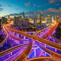 Enlaces por carretera en la ciudad de Shanghái: