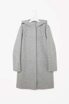 COS image 2 of Wool duffle coat in Grey