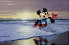 """Fun at the Beach"" by Schim Schimmel Minnie Mouse Pictures, Mickey And Friends, Mickey Minnie Mouse, Disney And Dreamworks, Beach Fun, Cartoon Wallpaper, Disney Characters, Fictional Characters, Art Work"