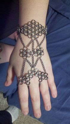 12/2 chain maille slave bracelet for my wife