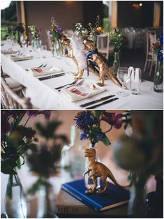 Claire and Matthew's Circus themed Dinosaurs and Gin Loving Farm Wedding by Mike Plunkett – Boho Wed – Wedding Lego Wedding, Quirky Wedding, Wedding Dj, Wedding Humor, Farm Wedding, Wedding Themes, Floral Wedding, Wedding Decorations, Movie Wedding