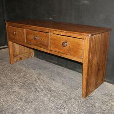 Antique Dresser Base  19th C antique pine dresser base. 1880