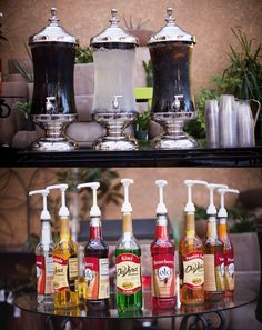 We did an Italian Soda bar. One of my favorite parts. We did an Italian Soda bar. One of my favorite Italian Soda Bar, Italian Theme, Bar Drinks, Cold Drinks, Drink Bar, Beverages, Wedding Reception, Reception Food, Wedding Ideas