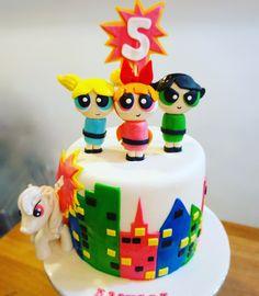 Power Puff Girls & My Little Pony Cake