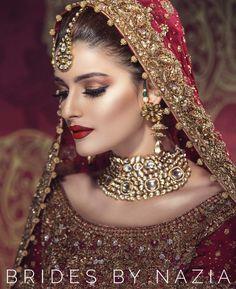 Bridal Face Makeup For Beautiful Bride Indian Makeup, Indian Beauty, Arabic Makeup, Pakistani Bridal Makeup, Braut Make-up, Asian Bridal, Exotic Beauties, Bride Makeup, Wedding Makeup