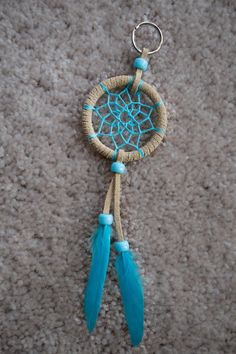 Items similar to Dream Catcher Keychain // Custom // Handmade // 2 inch Ring // Dress Up Your Keys on Etsy Making Dream Catchers, Dream Catcher Decor, Small Dream Catcher, Crochet Keychain, Diy Keychain, Keychain Ideas, Handmade Keychains, Crochet Dreamcatcher, Dreamcatcher Keychain