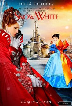 Mirror Mirror (2011) Costume design: EIKO ISHIOKA - with Lily Collins as Snow White Snow and Julia Roberts as Evil Queen