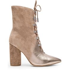 Sigerson Morrison Knight Bootie (31.590 RUB) ❤ liked on Polyvore featuring shoes, boots, ankle booties, booties, lace up high heel boots, short high heel boots, lace up ankle booties, laced booties and lace up boots