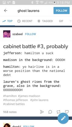 It's actually Hamilton making fun of Jefferson's mistresses who are slaves and dragging everyone for owning skates,while trying to get slavery banned. It's pretty funny tho.
