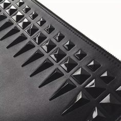 GVC STUDDED .pt Patched Leather .ct CLUTCH