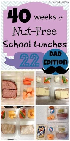 Dad Lunches - Week 22 of 40 Weeks of Nut Free Kids School Lunches StuffedSuitcase.com lunch packing ideas