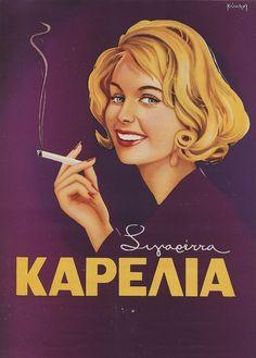 Retro Poster of cigarettes Vintage Advertising Posters, Old Advertisements, Vintage Ads, Vintage Posters, Vintage Magazines, Vintage Signs, Poster Art, Retro Poster, Retro Ads