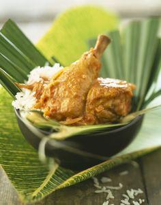 Découvrez la recette du poulet antillais à la noix de coco