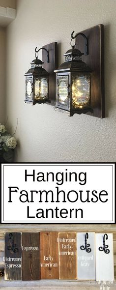 Oooh!! I think these are my favorite wall lanterns yet! I love the Farmhouse style. Looks like little fairies are dancing inside. So pretty! #ad #homedecor #farmhousedecor #walldecor #walllanterns #rusticdecor #professionalpinner