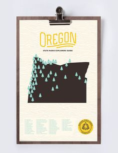 Nature lover? Keep track of the state parks you've visited with these modern prints.
