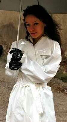 White PVC Raincoat