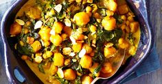 Curtis Stone's delicious pumpkin curry with chickpeas, silverbeet and almonds is a great way to feed your family.