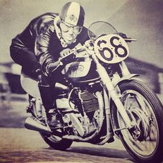 TT Manx Grand Prix Peter Romaine on a Norton prepared by Francis Beart 1950