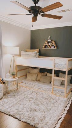 Big Girl Rooms, Boy Room, Home Bedroom, Kids Bedroom, Ikea Kura, Kura Hack, Kura Bed, Kids Room Design, Room Inspiration