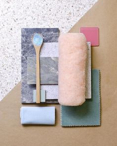 Weekly material mood 〰 Fluffy pink and Dove Onyx Terrazzo, Material Board, Concept Board, Colour Board, Color Pallets, Colour Schemes, Textures Patterns, Mood Boards, Color Inspiration
