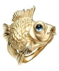 Massimo Izzo rings | fish ring http://rstyle.me/hcvgbu6e