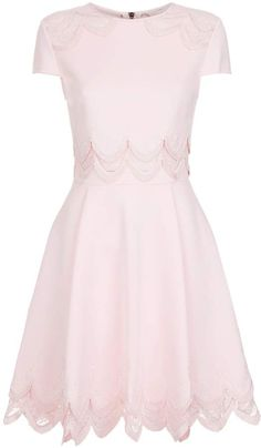 designer clothing, luxury gifts and fashion accessories Ted Baker Rehanna Embroidered Cap Skater Dress, Pink, 4 Pink Fashion, Fashion Outfits, Fall Fashion, Fashion Trends, Girly Outfits, Cute Outfits, Look Rose, Curvy Petite Fashion, Ted Baker Dress