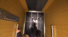 Cruel or genius? Elevator riders get a sneak peak at LG's new displays