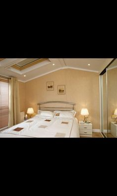 Another bedroom Caravans, Bathroom Lighting, Mirror, Bedroom, Furniture, Home Decor, Bathroom Light Fittings, Bathroom Vanity Lighting, Decoration Home