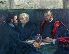 A Review at the Faculty of Medicine, Paris  [Henri de Toulouse-Lautrec]