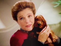 Captain Janeway and Puppy (Q's gift) - The Q and the Grey