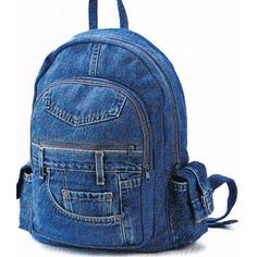 Denim bookbag