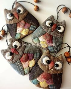 Discover thousands of images about Mooi uiltjies Japanese Patchwork, Patchwork Bags, Cute Sewing Projects, Sewing Crafts, Owl Crafts, Diy And Crafts, Fabric Art, Fabric Crafts, Quilt Patterns