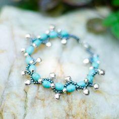 Melody turquoise bracelet czech glass by AmazingMagicJewelry Czech Glass Beads, Turquoise Bracelet, Jewels, Bracelets, Handmade, Etsy, Vintage, Jewellery, Bangles