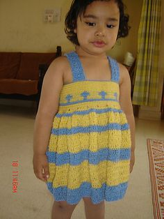Free pattern  Ravelry: The yellow and blue dress pattern by anuradha shukla