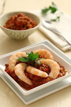 Gamberi alla provenzale con  lenticchie al curry || Cirio, gusta la nostra ricetta. #shrimph #gamberi #lentils #lenticchie #ricetta #seafood #food #recipe