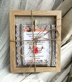 Shabby chic wedding greeting card